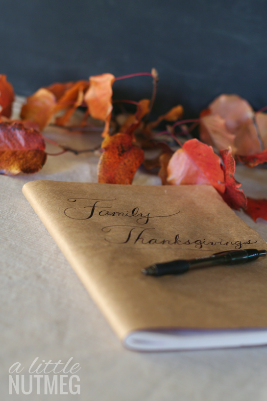 8 thanksgiving traditions: thanksgiving journal