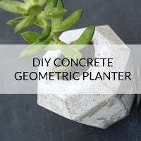 diy concrete geometric planter